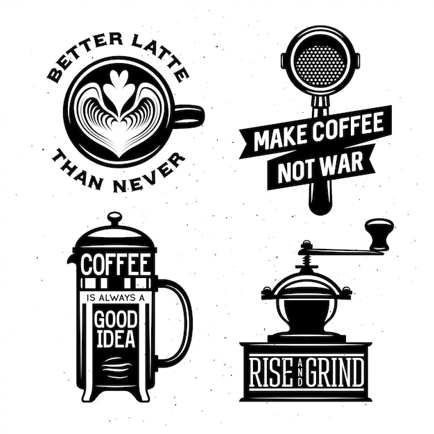 coffee related vintage vector illustration quotes premium