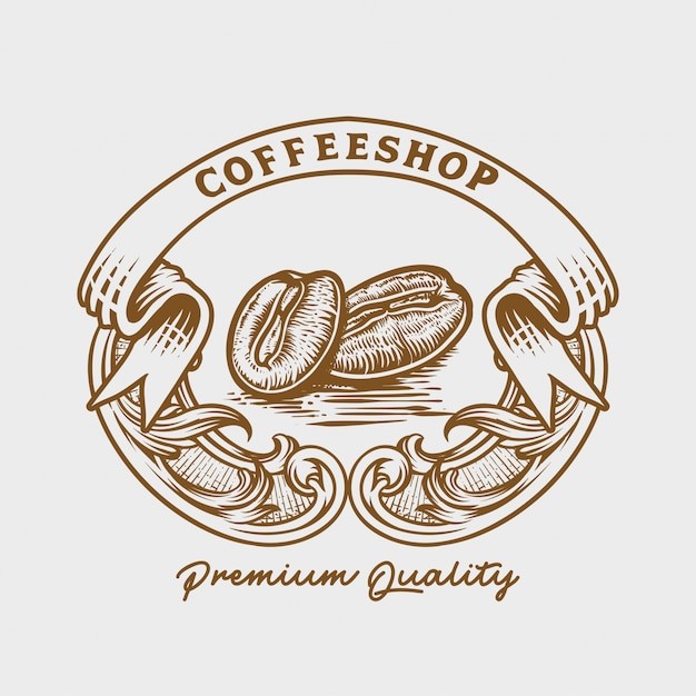 Coffee roasters logo Premium Vector