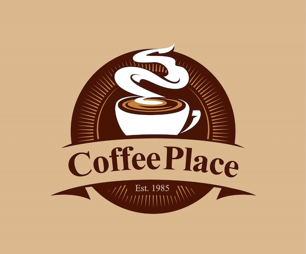 coffee shop badge in vintage style Free Vector