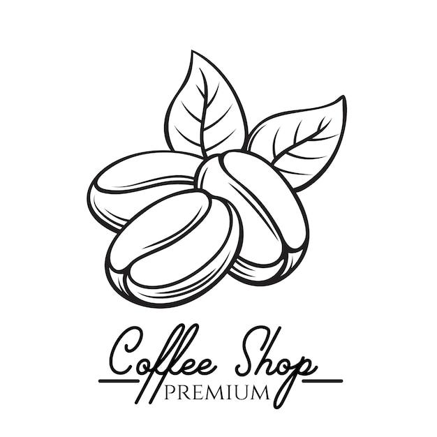 Coffee shop badge Premium Vector