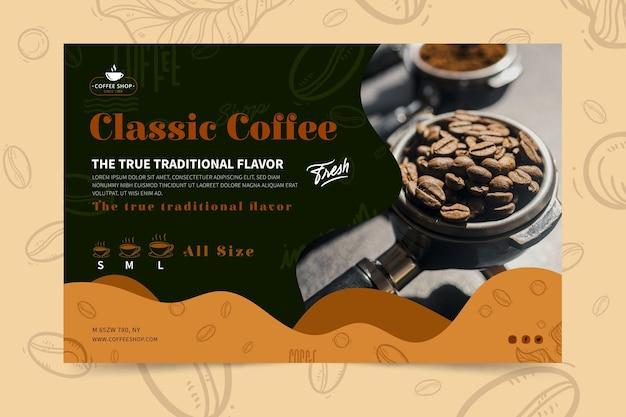 Modello di banner di caffetteria Vettore gratuito