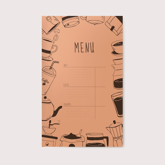 Coffee shop and cafe menu vector Free Vector