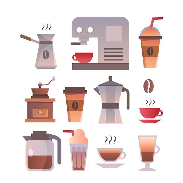 Coffee shop logo design template. retro coffee emblem. Free Vector
