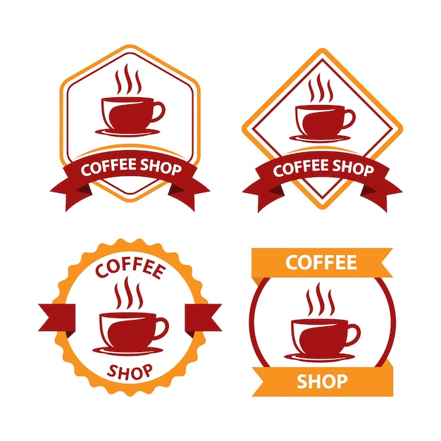 Coffee shop logo design vector Premium Vector