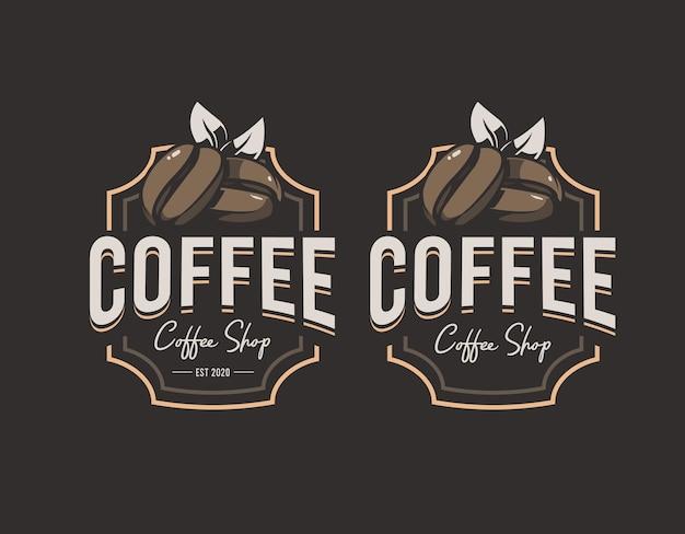 Coffee shop logo Premium Vector