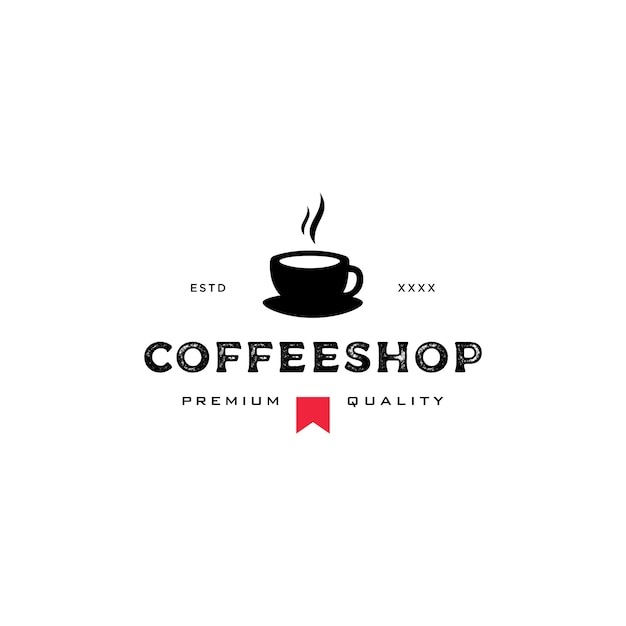 Coffee shop logo Premium Vector