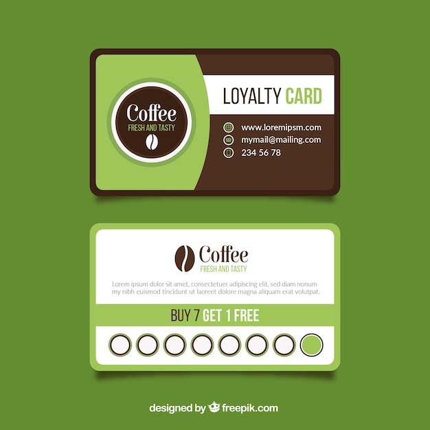 Coffee shop loyalty card template vector free download coffee shop loyalty card template free vector wajeb Gallery
