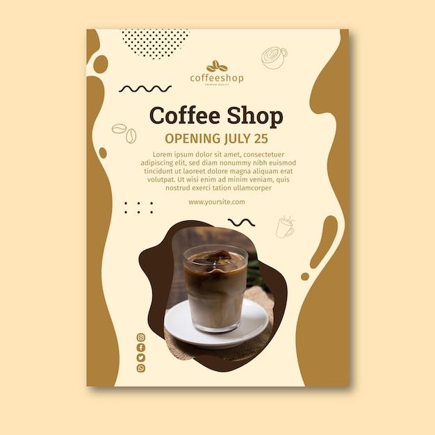 Шаблон плаката кафе Бесплатные векторы