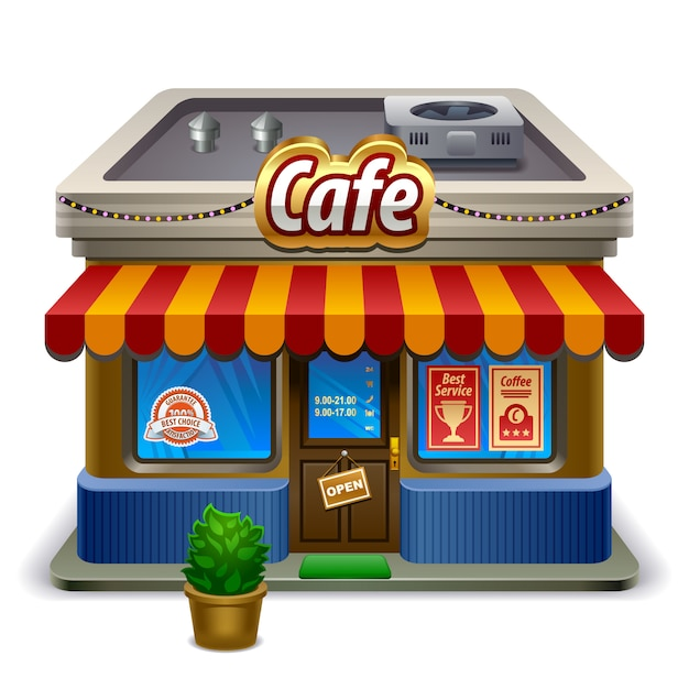 Coffee shop store or cafe Premium Vector