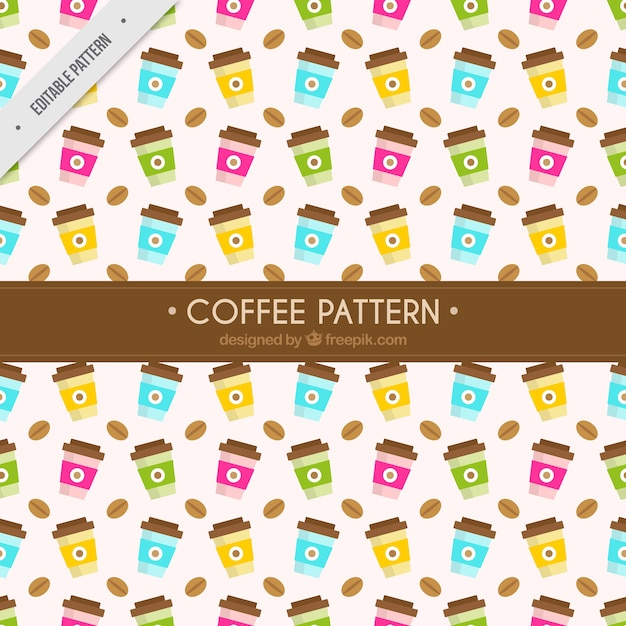 Coffee take away pattern