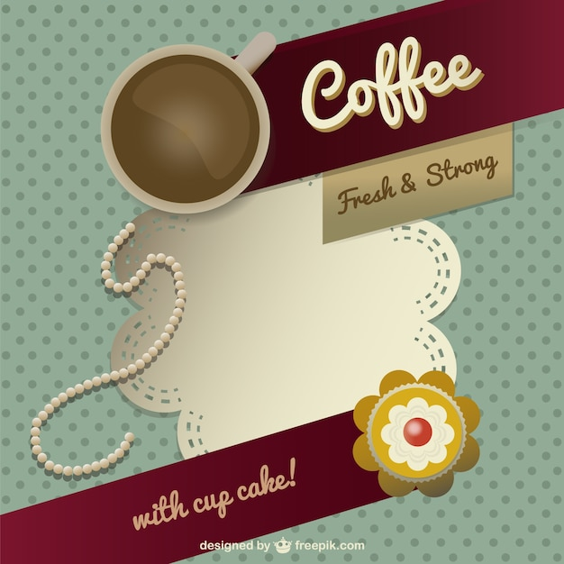 coffee template design vector free download