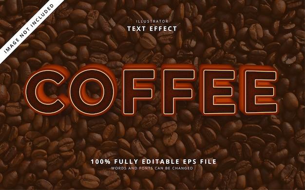Эффект текста кофе Premium векторы
