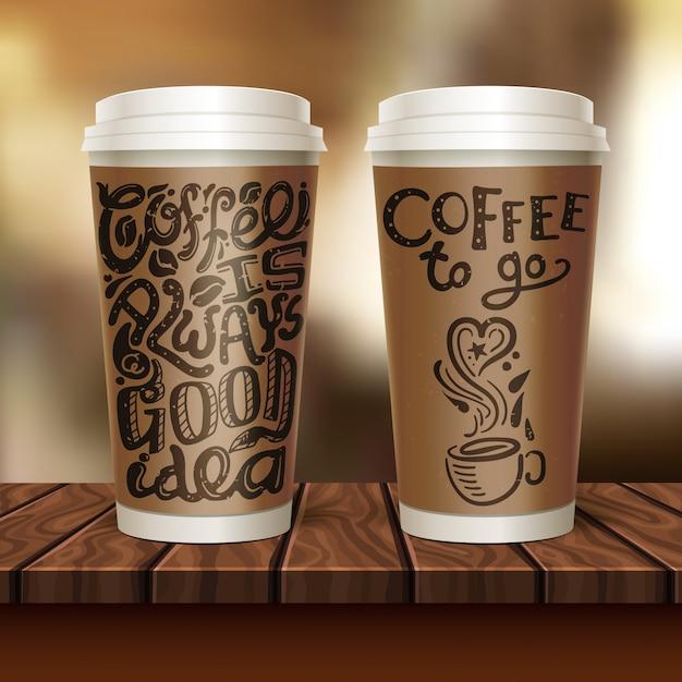 커피 두 잔 구성 이동 무료 벡터
