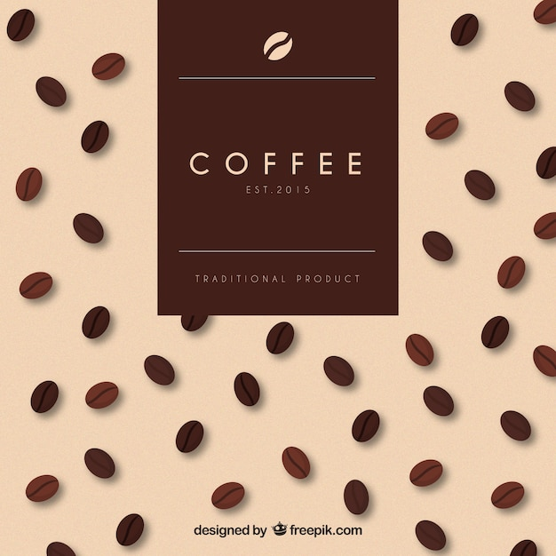 Coffee traditional product Free Vector