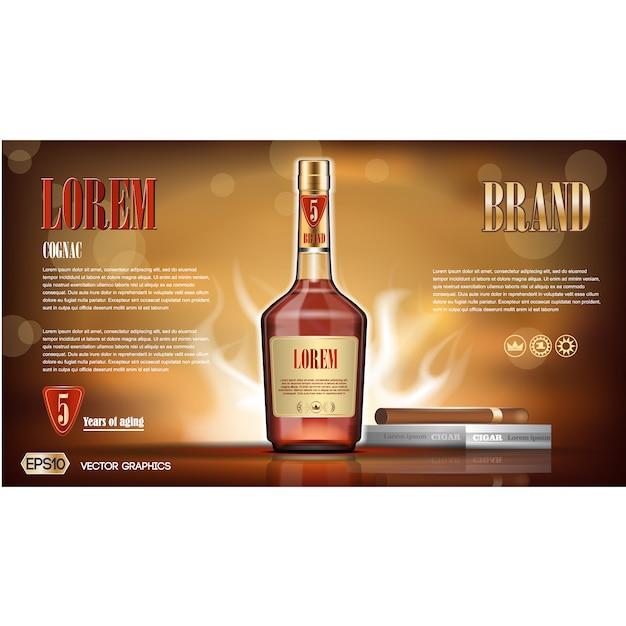 Cognac background design vector free download for Cognac design