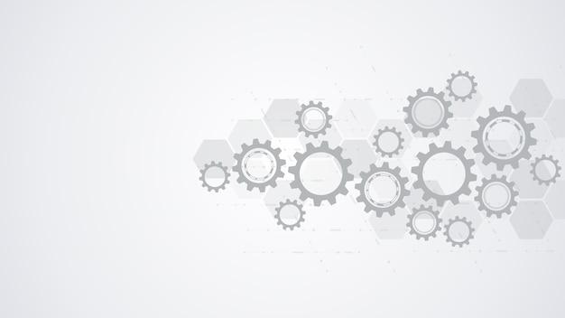 Конструкция зубчатых колес и шестерен Premium векторы