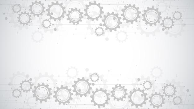 Cogs and gear wheel mechanisms Premium Vector