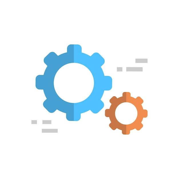 Cogwheel icon technical service support technology Premium Vector