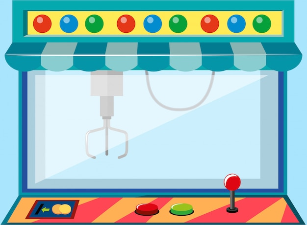 A coin operated game machine Free Vector