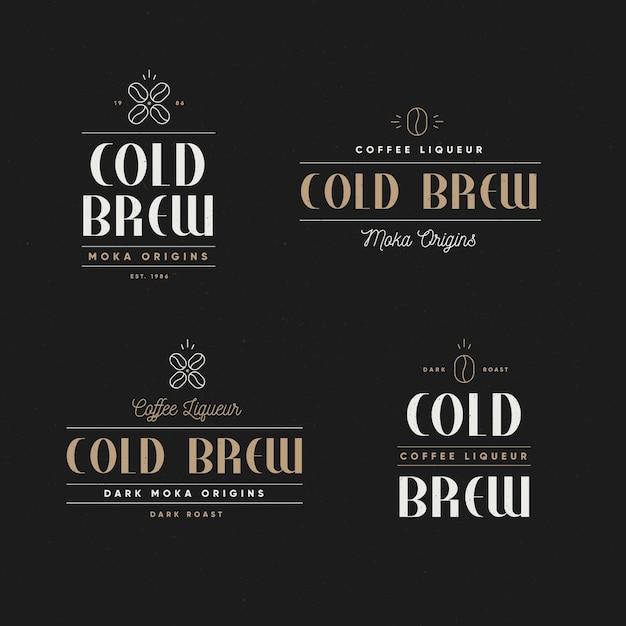 콜드 브루 커피 로고 컨셉 무료 벡터
