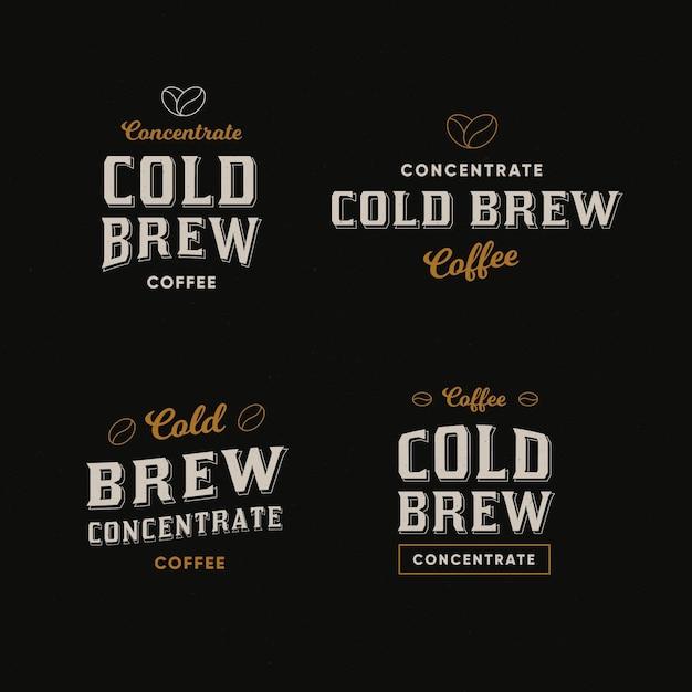 Cold brew coffee logos concept Premium Vector