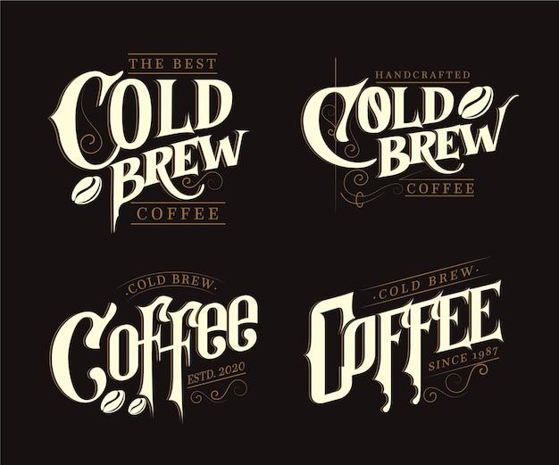 Логотипы холодного кофе Бесплатные векторы