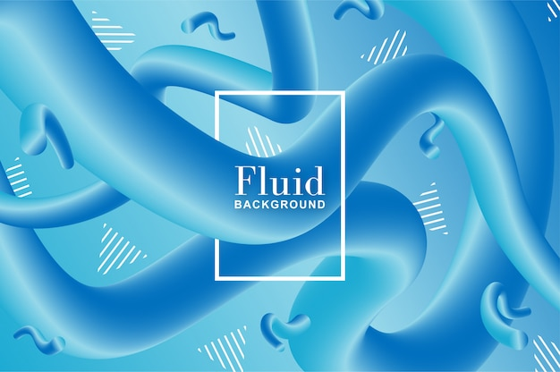 Cold fluid background with blue and turquoise shapes Free Vector