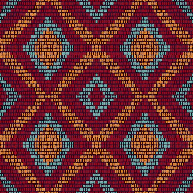 Cold repeat chevron. maroon carpet  seamless pattern. ethnic tie dye geometric . azure japan stripe background. arabic tribal navajo. Premium Vector