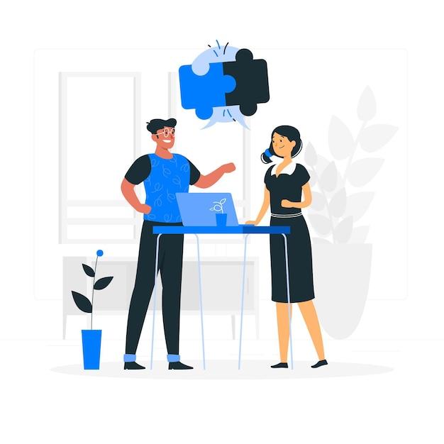Illustrazione del concetto di collaborazione Vettore gratuito