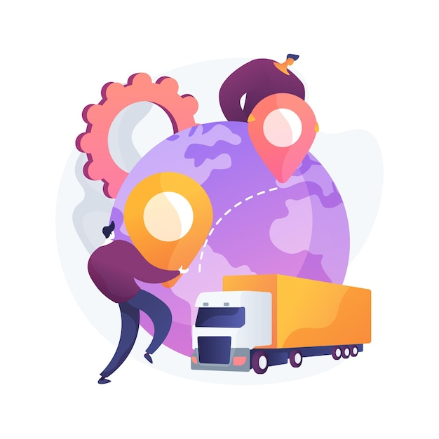 Collaborative logistics abstract concept illustration Free Vector