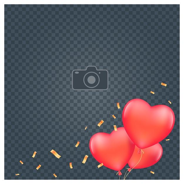 Collage of photo frame  illustration Premium Vector
