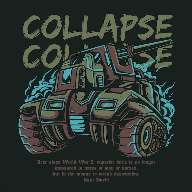 Collapse Premium Vector