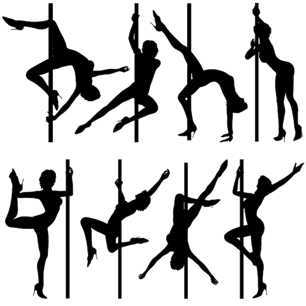 Collect dancing silhouettes Premium Vector