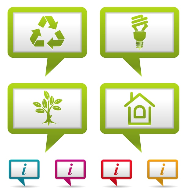 Collect environment banner set Premium Vector