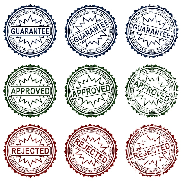 Collect stamps Premium Vector