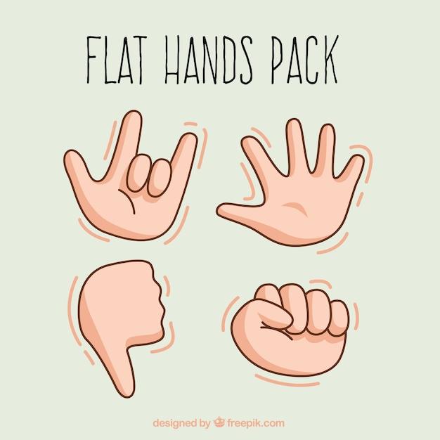Язык жестов collectio Бесплатные векторы