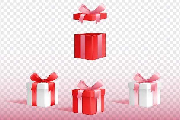 Raccolta di scatole regalo 3d Vettore gratuito