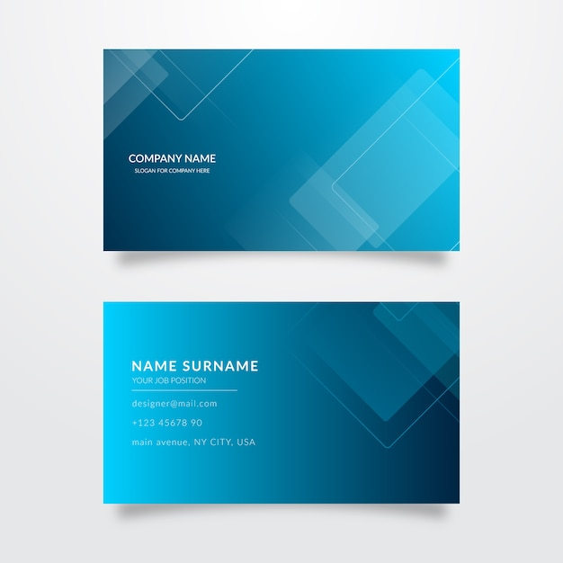 Collection of abstract business cards Free Vector