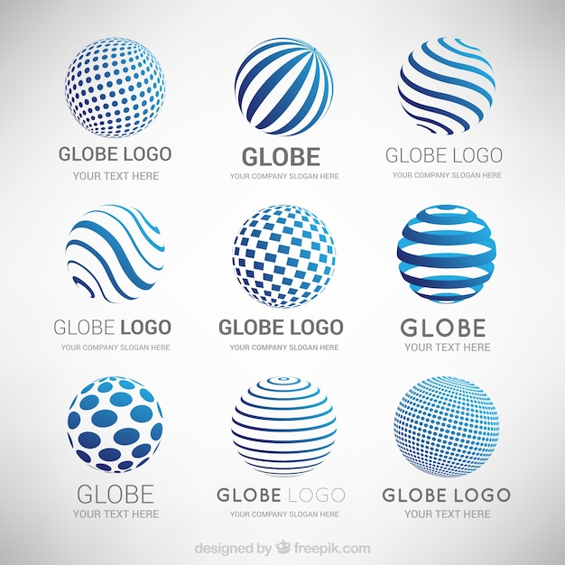 Collection of abstract modern logos Free Vector