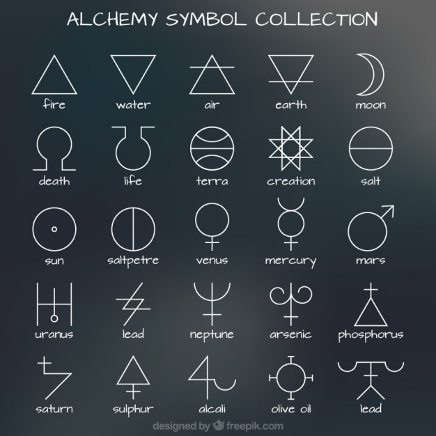 Collection Of Alchemy Symbol Vector Free Download