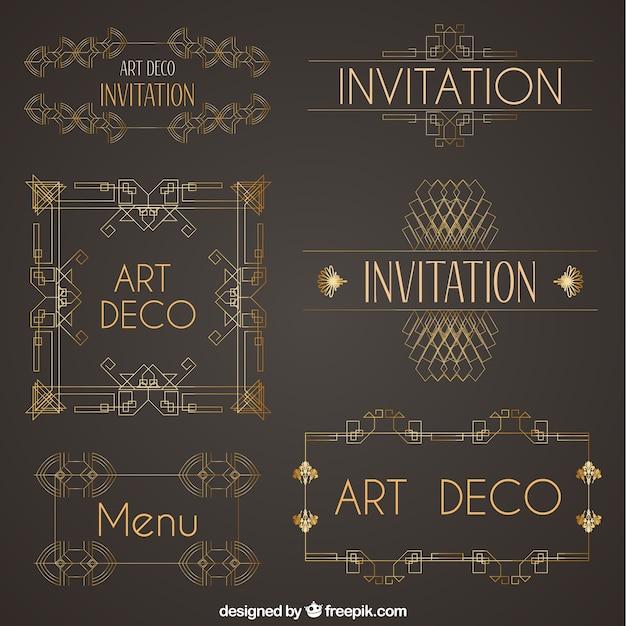 Deko Ornament.Collection Of Art Deco Ornaments Vector Free Download