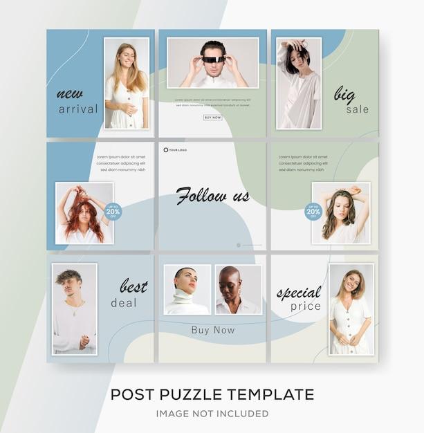 Шаблон коллекции баннеров для публикации в социальных сетях instagram. Premium векторы