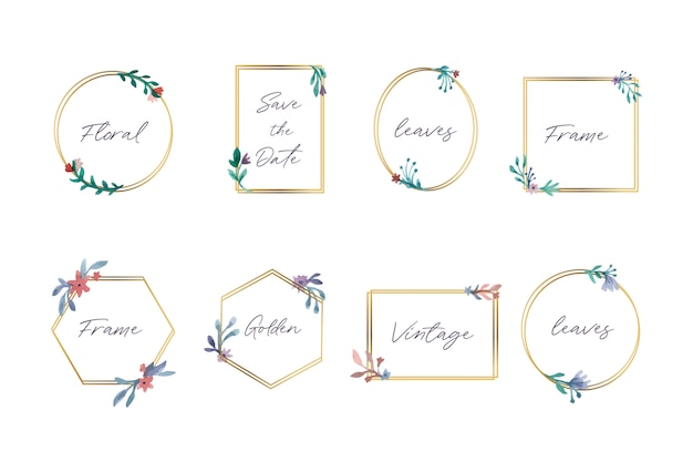 Collection of beautiful floral frames Free Vector