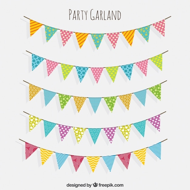 Bunting Vectors, Photos And PSD Files