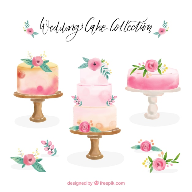 Collection Beautiful Of Birthday Cakes Vector Free Download
