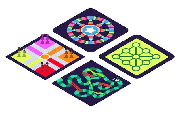 Collezione di giochi da tavolo per un momento divertente Vettore gratuito