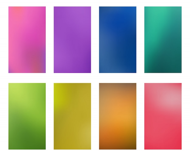 Collection bright abstract multicolored wallpapers smartphones screen mobile background Premium Vector