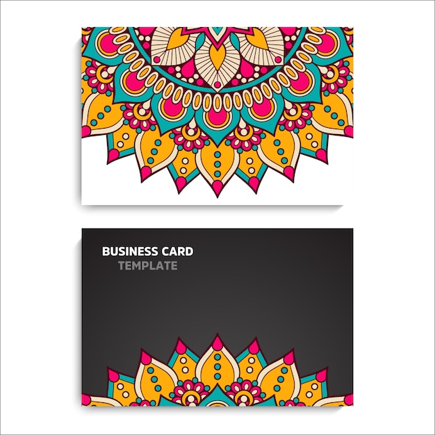 Collection business card or invitation. background Premium Vector