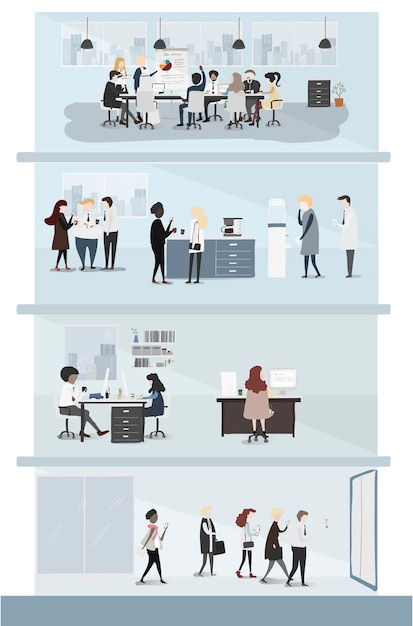 Collection of business people Free Vector