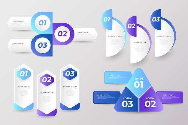 Raccolta di elementi di presentazione aziendale Vettore gratuito